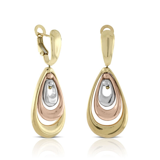 Toscano Tri-Color Earring 14K