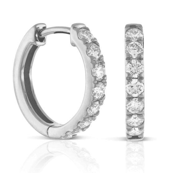 Ikuma Canadian Diamond Hoop Earrings 14K