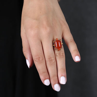 Lisa Bridge Carnelian Gemstone Ring