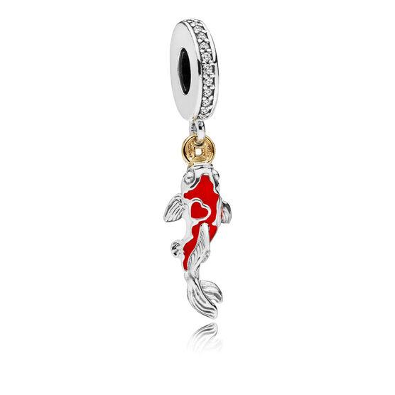 Pandora Good Fortune Carp CZ & Enamel Charm, Silver & 14K