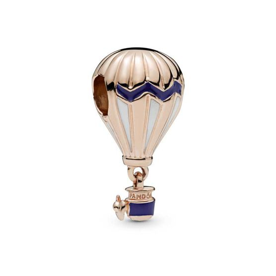 Pandora Rose Blue Hot Air Balloon Enamel Charm