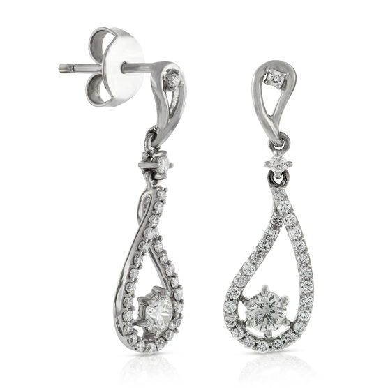 Signature Forevermark Diamond Teardrop Earrings 18K
