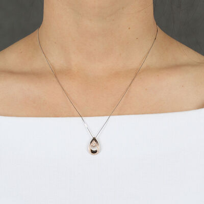 Ikuma Canadian Diamond Teardrop Pendant 14K