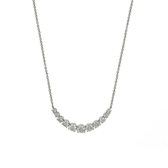 Graduated Diamond Necklace 14K