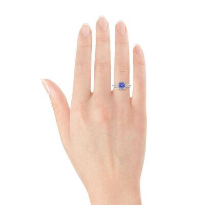 Tanzanite & Diamond Ring 14K
