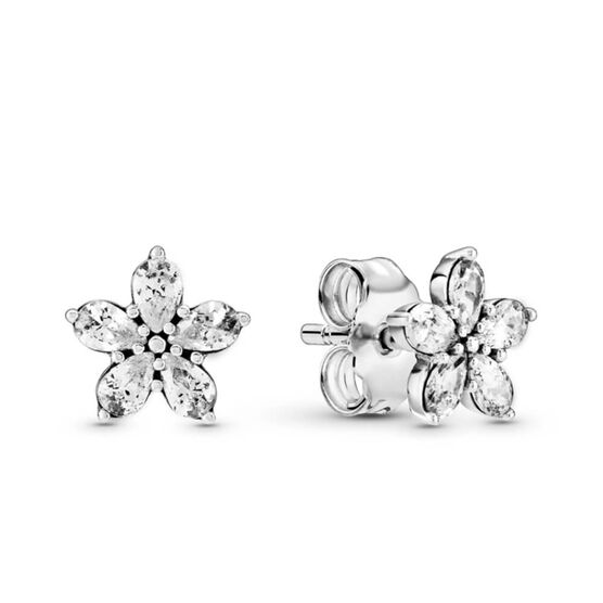Pandora Sparkling Snowflake CZ Stud Earrings