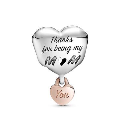 Pandora Rose™ Love You Mom Heart Charm