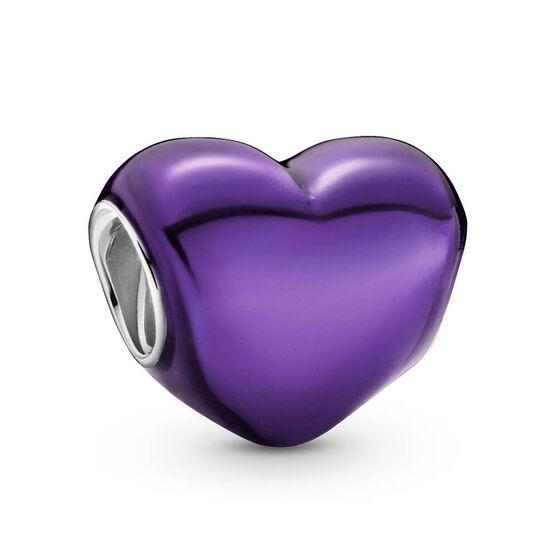 Pandora Metallic Purple Heart Enamel Charm