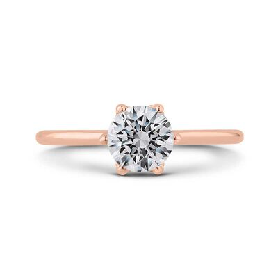 "Bella Ponte ""The Whisper Crown"" Rose Gold Diamond Engagement Ring Setting 14K"