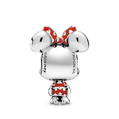 Pandora Disney Minnie Mouse Dotted Dress & Bow Enamel Charm