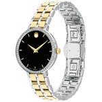 Movado Kora Ladies Two-Tone Diamond Bezel Watch, 28mm