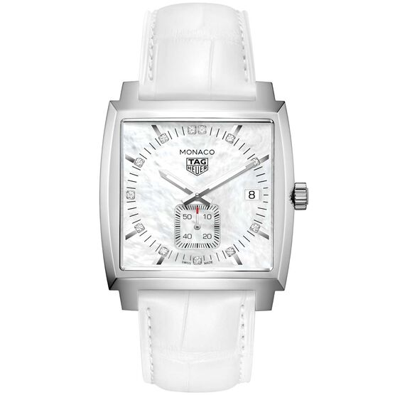 TAG Heuer Monaco Diamond Markers Quartz Watch, 37mm