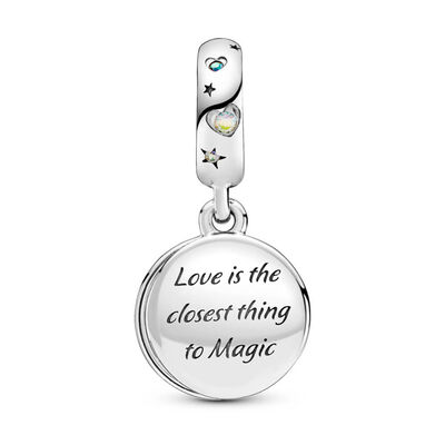 Pandora Magical Unicorn Enamel & CZ Double Dangle Charm