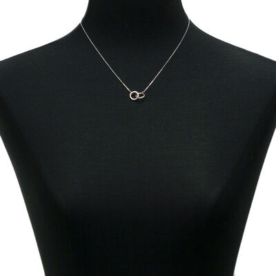 Interlocking Diamond Rings Necklace 14K
