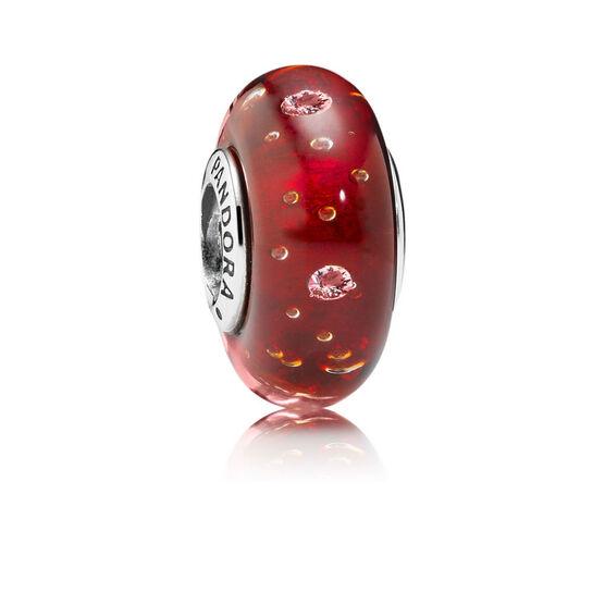 PANDORA Red Effervescence Charm