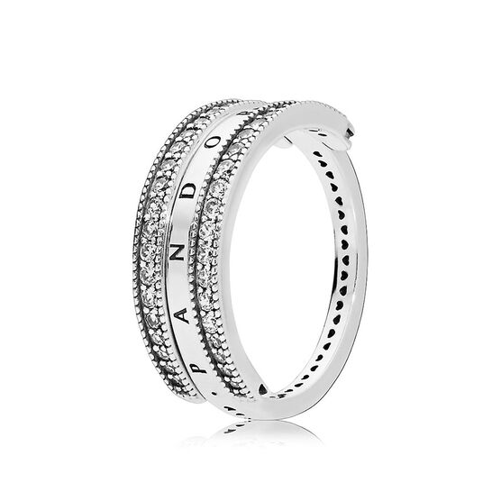 Pandora Flipping Hearts of Pandora CZ Ring