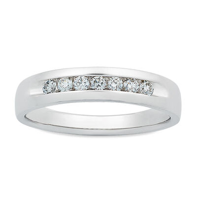Men's Channel Set Diamond Band 14K, 1/3 ctw,