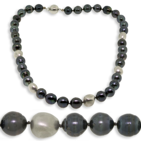 Cultured South Sea Tahitian Pearl Strand 14K