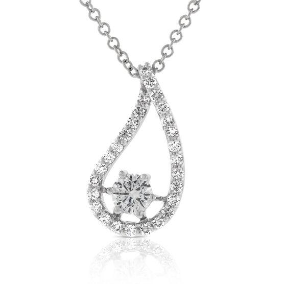 Signature Forevermark Diamond Teardrop Pendant 18K