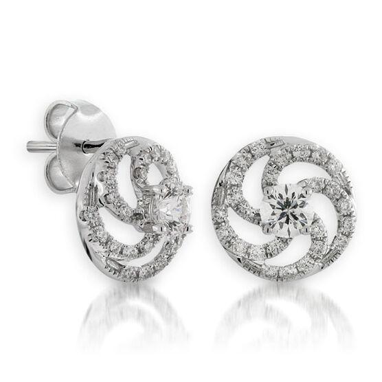 Ben Bridge Signature Diamond Earrings 14K
