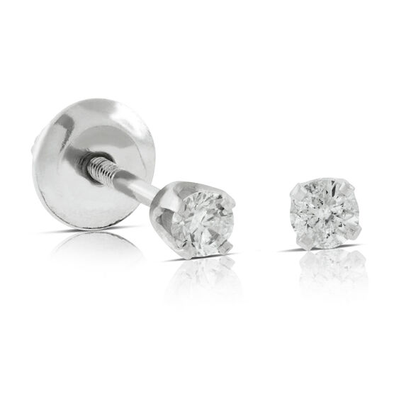 Baby Diamond Earrings 14K
