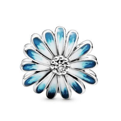 Pandora Blue Daisy Flower Enamel Charm