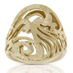 Toscano Engraved Oval Ring 18K