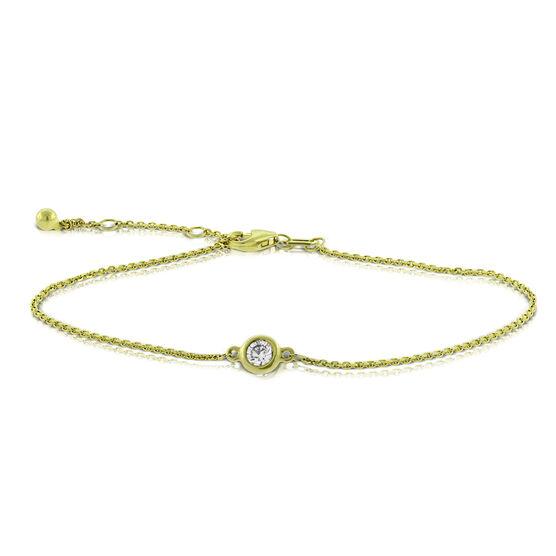 Bezel Set Diamond Bracelet 14K