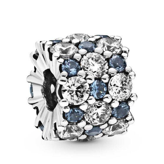Pandora Blue Clear Sparkle Crystal & CZ Charm