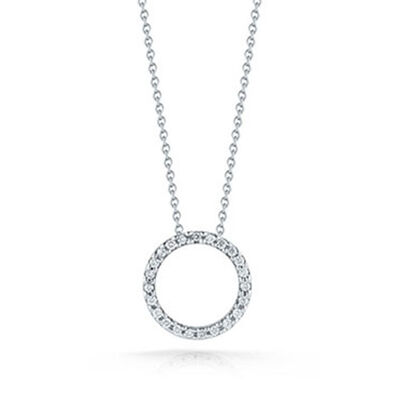 Roberto Coin Tiny Treasures Diamond Circle Pendant 18K
