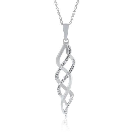 Diamond Spiral Twist Pendant 14K