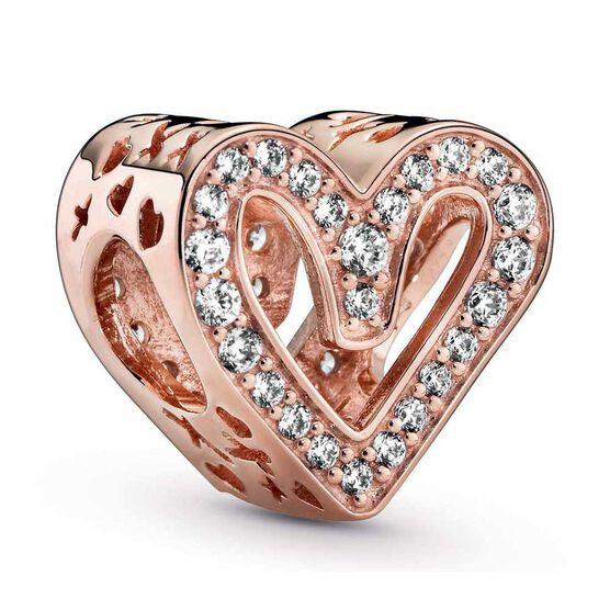 Pandora Rose™ Sparkling Freehand CZ Heart Charm