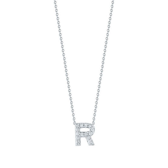 Roberto Coin Tiny Treasures Diamond Initial Pendant 18K Letter 'R'
