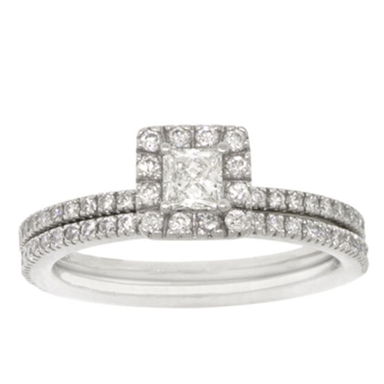 Diamond Wedding Set in Platinum