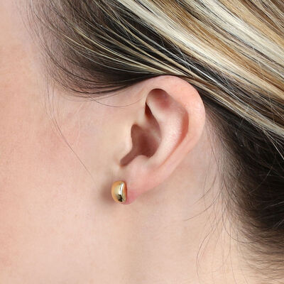 Rectangle Stud Earrings 14K