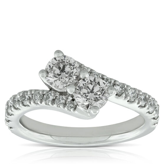 Perfectly Paired 2-Stone Diamond Ring, 14K, 1.45 ctw.