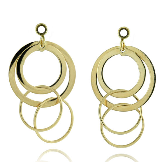 Circle Earring Jackets 14K