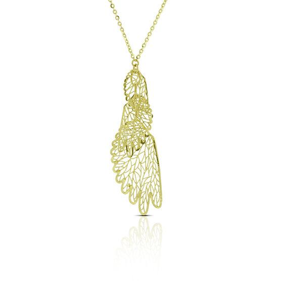 Filigree Wing Necklace 14K