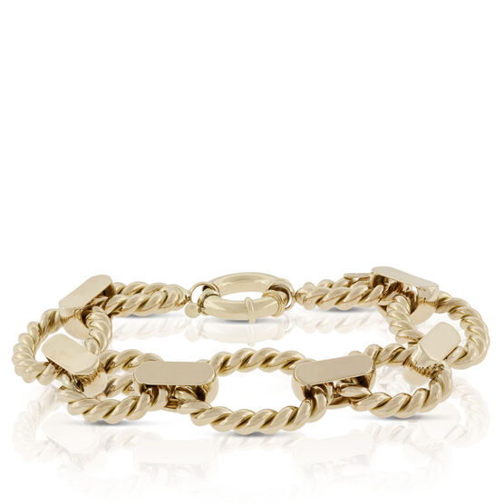 Toscano Twisted Oval Link Bracelet 18K