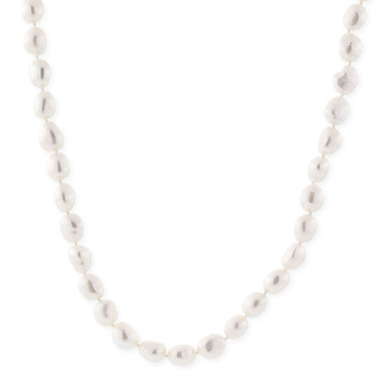 Baroque Freshwater Cultured Pearl Strand with Sterling Silver Clasp