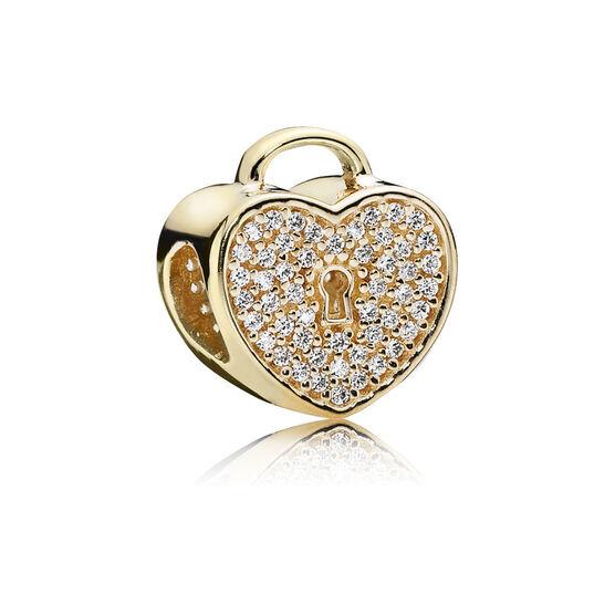Pandora Heart Lock Charm 14K