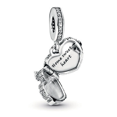 Pandora Wonderland Home Sweet Heart CZ Dangle Charm