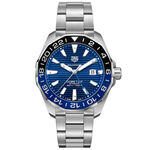 TAG Heuer Aquaracer Calibre 7 GMT Automatic Mens Blue Steel Watch