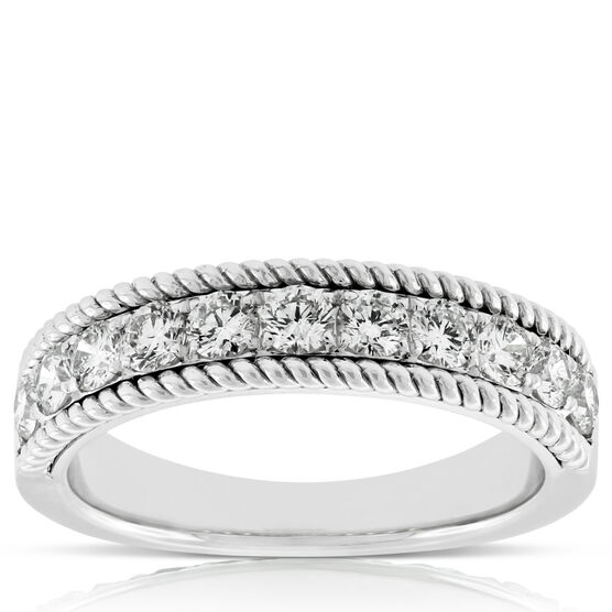 Diamond Wire Edge Band 14K