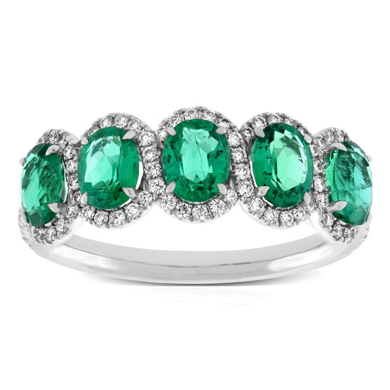 Oval Emerald Band 18K