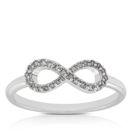 Infinity Diamond Ring 14K