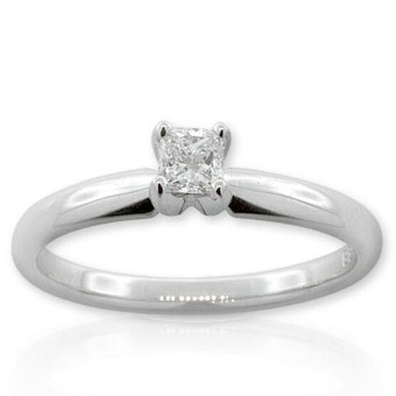 Ikuma Canadian Princess Cut Diamond Solitaire Ring 14K, 1/4 ct.