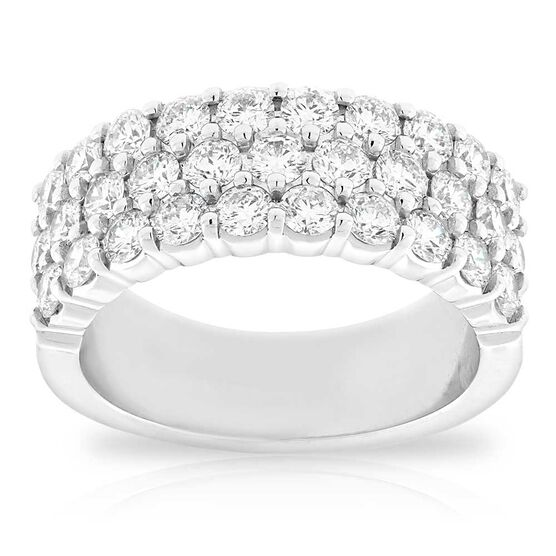 3-Row Diamond Ring 18K