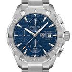 TAG Heuer Aquaracer Calibre 16 Automatic Mens Blue Steel Chronograph Watch