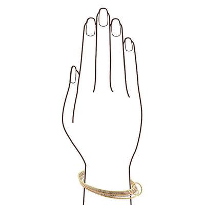 Tri-Color Bangle Bracelet 14K